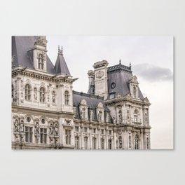 Paris Hotel de Ville Canvas Print