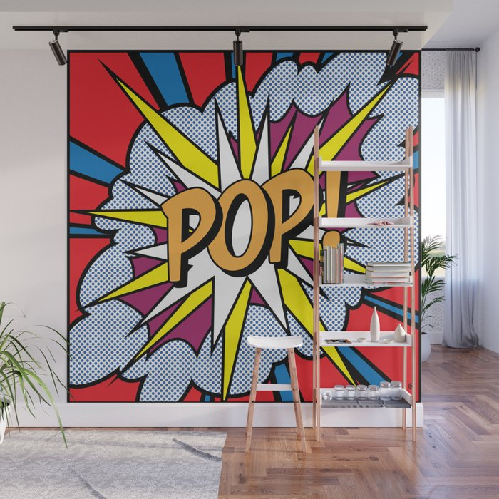 POP Art Exclamation Wall Mural by redssr03 | Society6