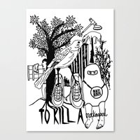 to kill a mockingbird Canvas Prints featuring To Kill a Mockingbird (Bold) by Louise Norman