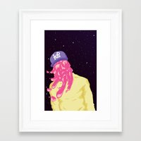 chance the rapper Framed Art Prints featuring Chance by Popsicle Illusion