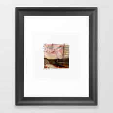 FOREIGN LOVE WORDS// Framed Art Print