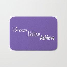 Dream Believe Achieve Ultra Violet Bath Mat