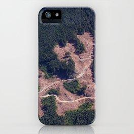 Logging Roads iPhone Case