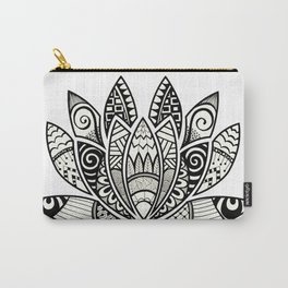 Tangled Lotus Carry-All Pouch