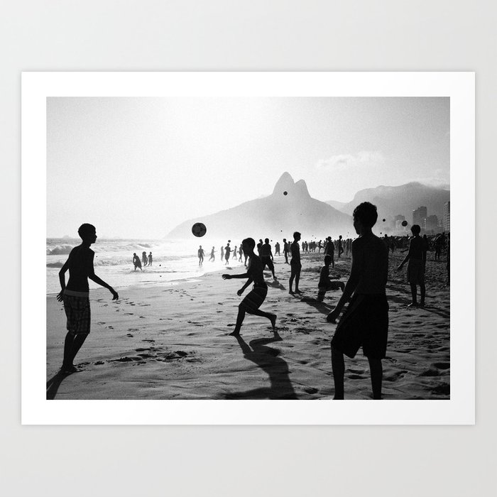 Beach Soccer at Ipanema Art Print