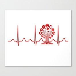 Technology Teacher Heartbeat Canvas Print