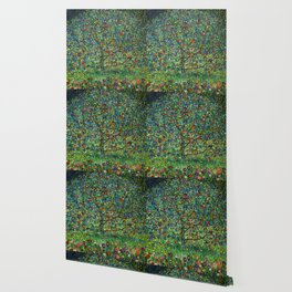 The Apple Tree Gustav Klimt Wallpaper
