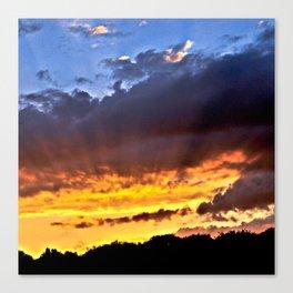 Magic September Sunset over Berlin Canvas Print