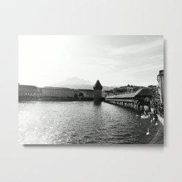 Luzern - Kapellturm Metal Print