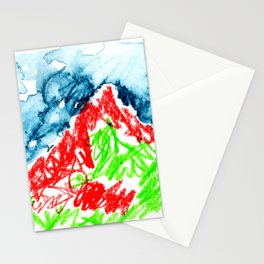 up to the hill Stationery Cards