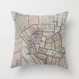 Vintage Map of Buffalo NY (1872) Throw Pillow