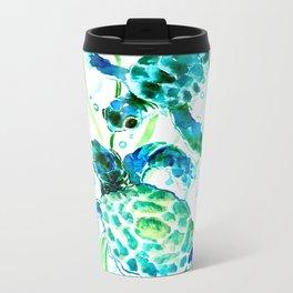 Sea Turtles, Turquoise blue Design Metal Travel Mug