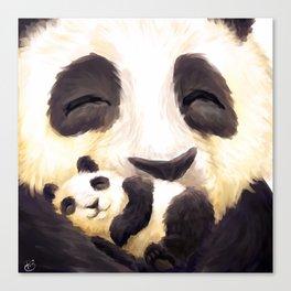 Cuddly panda Canvas Print