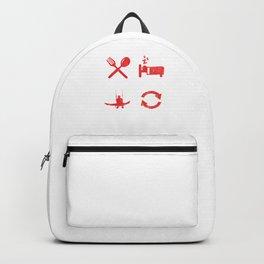 Eat Sleep Gymnast Repeat Athletic Sports Gift Backpack