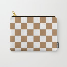 Checkered Pattern: Ginger Carry-All Pouch
