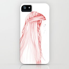 Red Hairstyle 1 iPhone Case