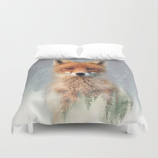 Vanishing Fox Duvet Cover