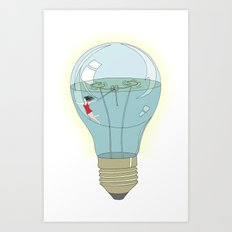 Life in a lightbulb. Day Art Print