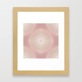 Rose Geometric Mandala Framed Art Print