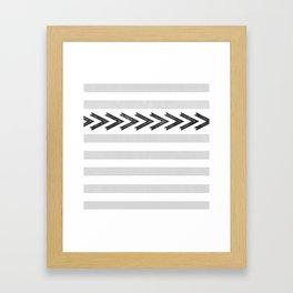 ARROW STRIPE {GRAY} Framed Art Print