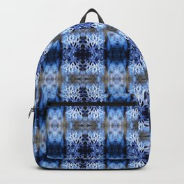 snowflake in blue 8 pattern Backpack