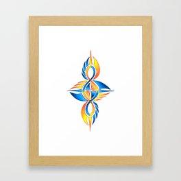 Twisted Tribal Infinity Elemental Framed Art Print