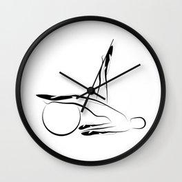 Abstract Pilates pose Wall Clock
