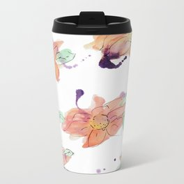 blazz studios: Watercolour Flowers Metal Travel Mug