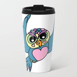 Lovely Owl Metal Travel Mug