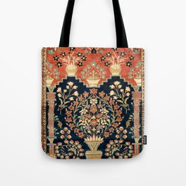 Kashan Poshti  Antique Central Persian Rug Print Tote Bag