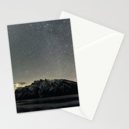 Stars over Lake Minnewanka Stationery Cards