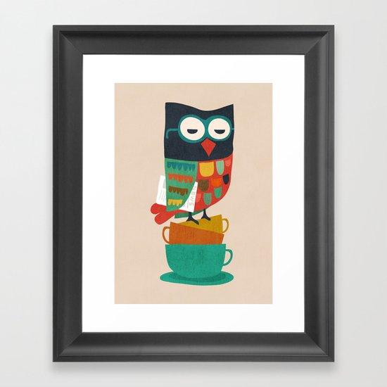 Morning Owl Framed Art Print