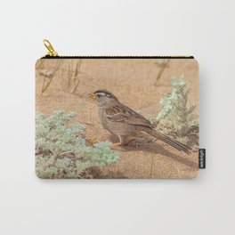 Foraging Sparow Carry-All Pouch