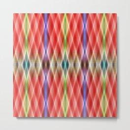 Pattern rhombs orange Metal Print