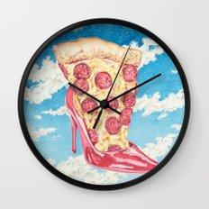 No Boys, Just Pizza Wall Clock