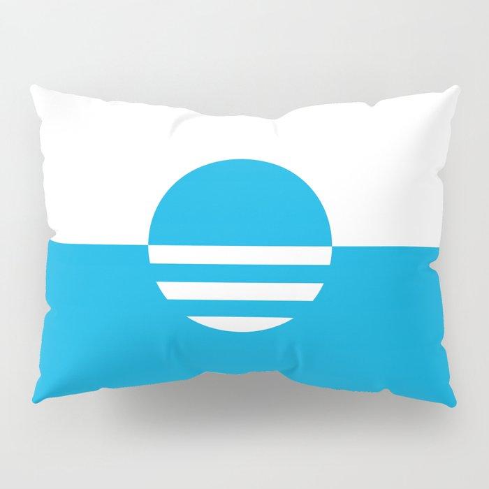 Milwaukee Wisconsin - Cyan - People's Flag of Milwaukee Pillow Sham