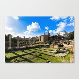 Imperial fora - Rome - Italy Canvas Print