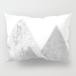 Grey marble mountain Pillow Sham