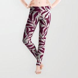 Leaves pattern pink Leggings