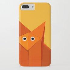 Geometric Cute Origami Fox Portrait iPhone 7 Plus Slim Case