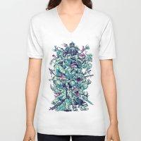ninja turtles V-neck T-shirts featuring Teenage Zombie Ninja Turtles by Charlie Layton