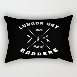 Barber Shop : Lunada Bay Barbers B&W Rectangular Pillow