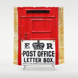 Old British Post Box Shower Curtain