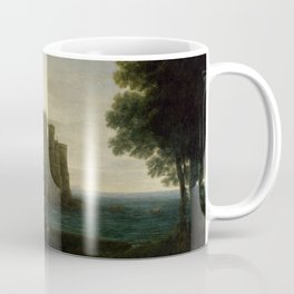 Claude Lorrain The Enchanted Castle Landscape with Psyche outside the Palace of Cupid Coffee Mug