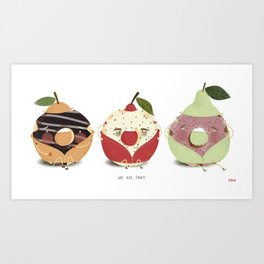 Fruity Donuts Art Print