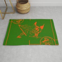tengu green/orange Rug