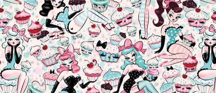 Cupcake Dolls Pattern Coffee Mug