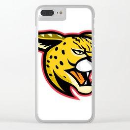 Serval Wild Cat Mascot Clear iPhone Case
