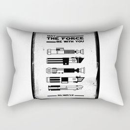 Black Brush - Star May the force be with you always Wars Rectangular Pillow