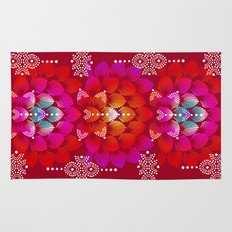 Variations on A Feather IV - Stars Aligned (Firebird Edition) Rug